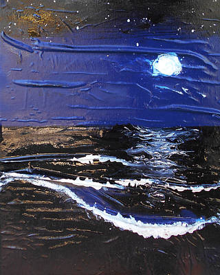 Mixed Media - Blue Moon by Angela Stout