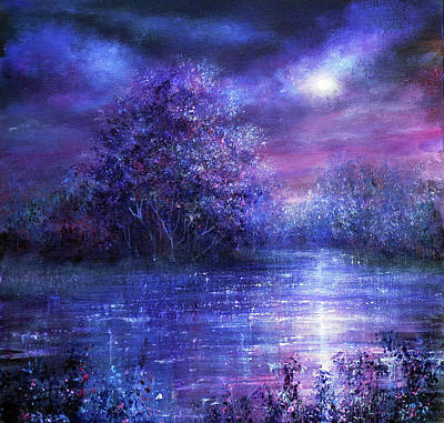 Painting - Blue Moon by Ann Marie Bone