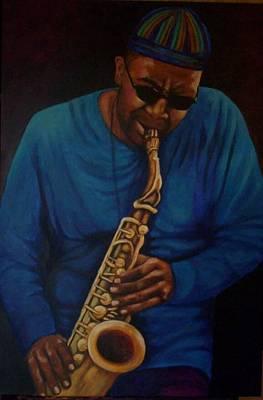 Painting - Blue Moon Blues by LaBadie