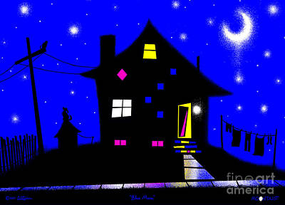 Hot Dogs Digital Art - Blue Moon by Cristophers Dream Artistry