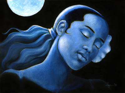 Painting - Blue Moon Dreams by Angela Treat Lyon