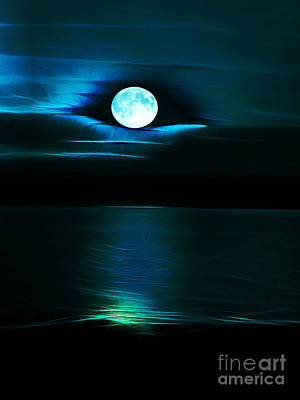 Photograph - Blue Moon by Elaine Hunter