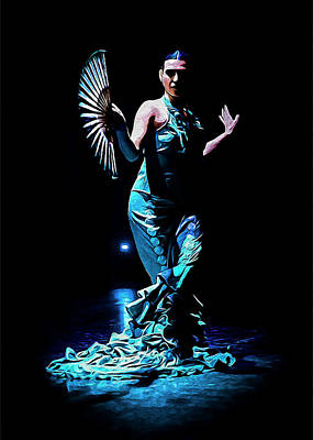 Flamenco Mixed Media - Blue Moon by Elzbieta Petryka