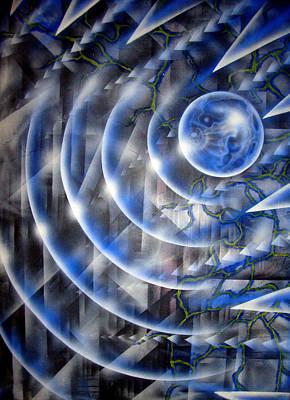 Blue Moon Falling Art Print by Leigh Odom