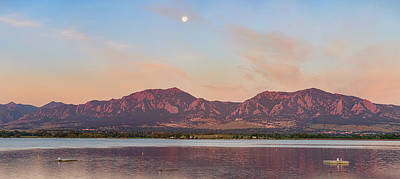 Photograph - Blue Moon Front Range Boulder Sunrise Panorama by James BO  Insogna