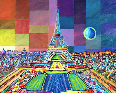 Painting - Blue Moon In Paris by Jeremy Aiyadurai