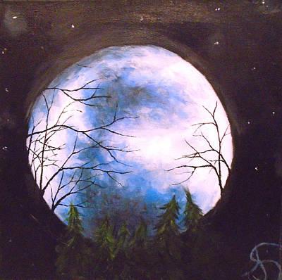 Blue Moon Original by Jen Shearer