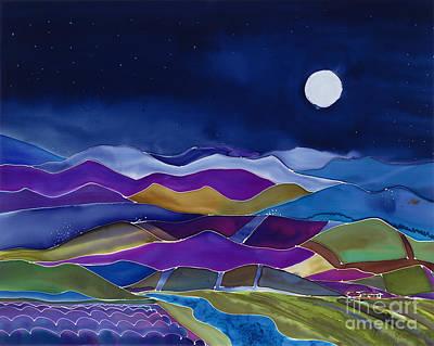 California Vineyard Painting - Blue Moon by Jill Targer