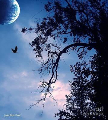 Digital Art - Blue Moon by Julie Dant