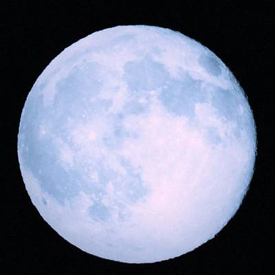 Moon Photograph - Blue Moon by Julie Pacheco-Toye