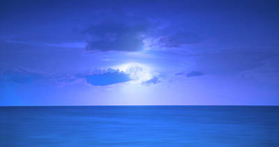 Photograph - Blue Moon by Mark Andrew Thomas