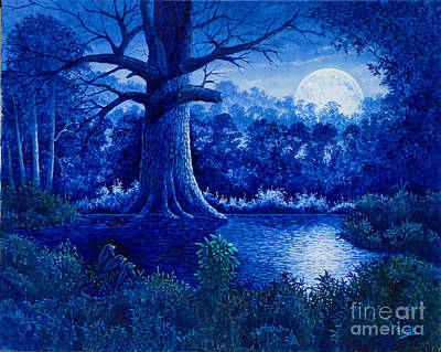 Painting - Blue Moon by Michael Frank