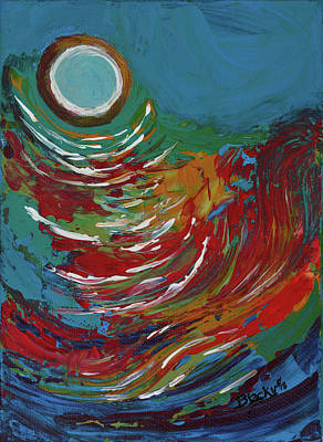 Painting - Blue Moon On The Water by Donna Blackhall