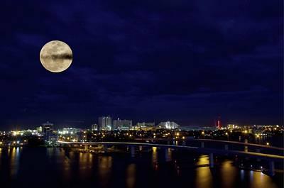 Photograph - Blue Moon Over Daytona Beach by Alice Gipson