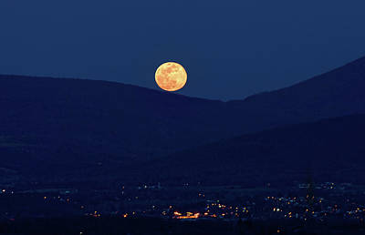 Photograph - Blue Moon Over Luray 1 by Lara Ellis