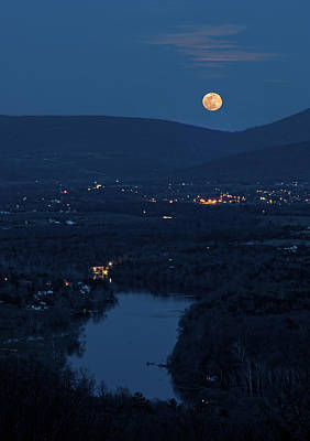 Photograph - Blue Moon Over The Shenandoah River by Lara Ellis