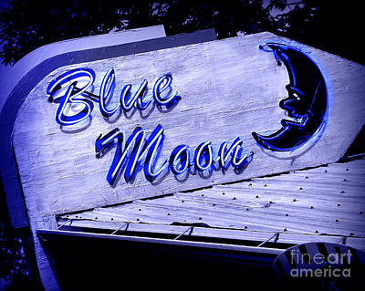 Blue Moon Art Print by Perry Webster