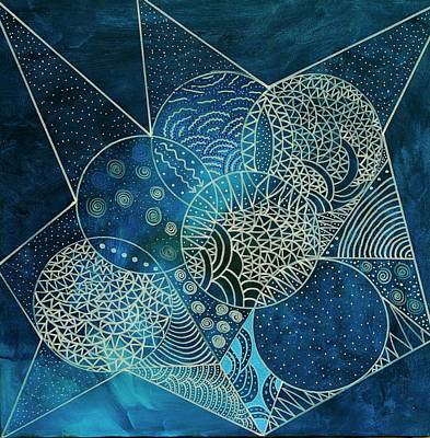 Mixed Media - Blue Moon by Riana Van Staden