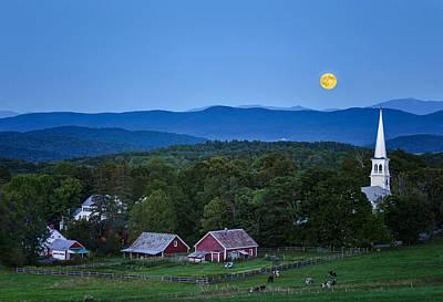 Photograph - Blue Moon Rising by John Vose