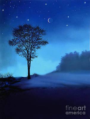 Blue Moon Art Print by Robert Foster
