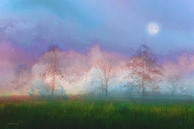 Landscape Digital Art - Blue Moon by Ron Jones