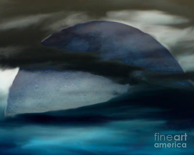 Digital Art - Blue Moon by Serena Ballard