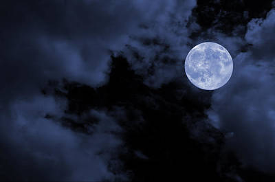 Photograph - Blue Moon by Stamatis Gr