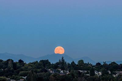 Photograph - Blue Moon.2 by E Faithe Lester