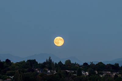 Photograph - Blue Moon.3 by E Faithe Lester