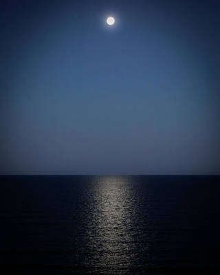 Photograph - Blue Moonrise by Jay Beckman