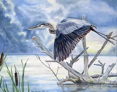 Painting - Blue Morning Flight by Heidi Parmelee-Pratt