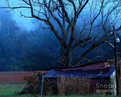 Art Print featuring the photograph Blue Morning by Misha Bean