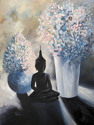 Budda Painting - Blue Morning by Torrie Smiley