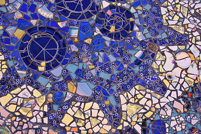 Photograph - Blue Mosaic Tiles by Jill Lang