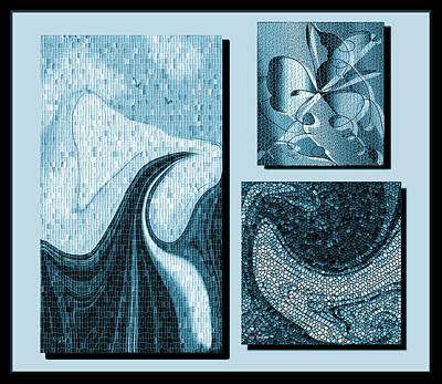 Digital Art - Blue   Mosaics by Iris Gelbart