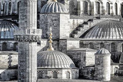 Photograph - Blue Mosque Background by Anna Om