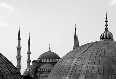 Sophia Photograph - Blue Mosque, Istanbul by Dave Lansley