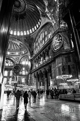 Photograph - Blue Mosque-- Sultan Ahmed Mosque Interior by Rene Triay Photography