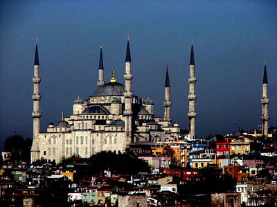 Photograph - Blue Mosque by T Guy Spencer