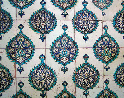 Photograph - Blue Mosque Tiles by Alexandra Jordankova