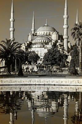 Blue Mosque - Vinatge Sepia Art Print
