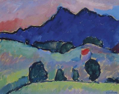 Jawlensky Painting - Blue Mountain by Alexej von Jawlensky