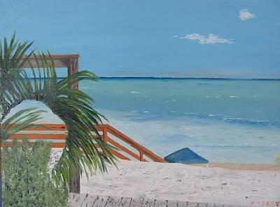 Blue Mountain Beach Dune Art Print by John Terry