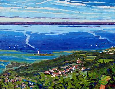 Collingwood Painting - Blue Mountain Blues by Phil Chadwick