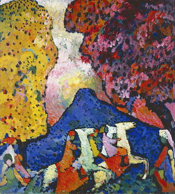 Kandinsky Wall Art - Painting - Blue Mountain Der Blaue Berg by Wassily Kandinsky