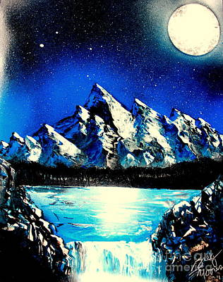 Painting - Blue Mountain E by Greg Moores
