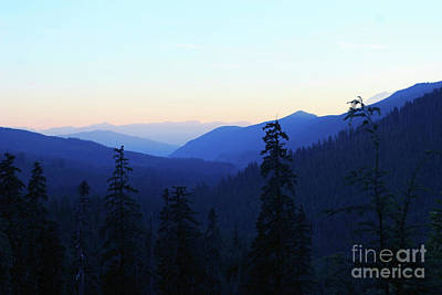 Photograph - Blue Mountain Layers by Rich Collins
