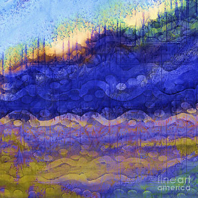 Digital Art - Blue Mountain River by Sydne Archambault