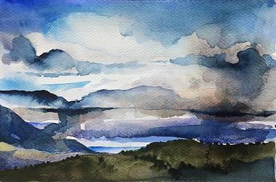 Blue Mountain Art Print by Stephanie Aarons