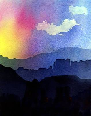 Painting - Blue Mountain Sunset by Anne Duke